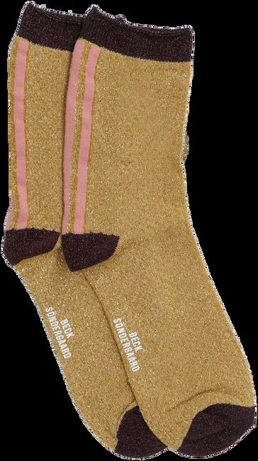 Cognacfarbene BECKSONDERGAARD Socken SHIMMER PASHA SOCK  - large