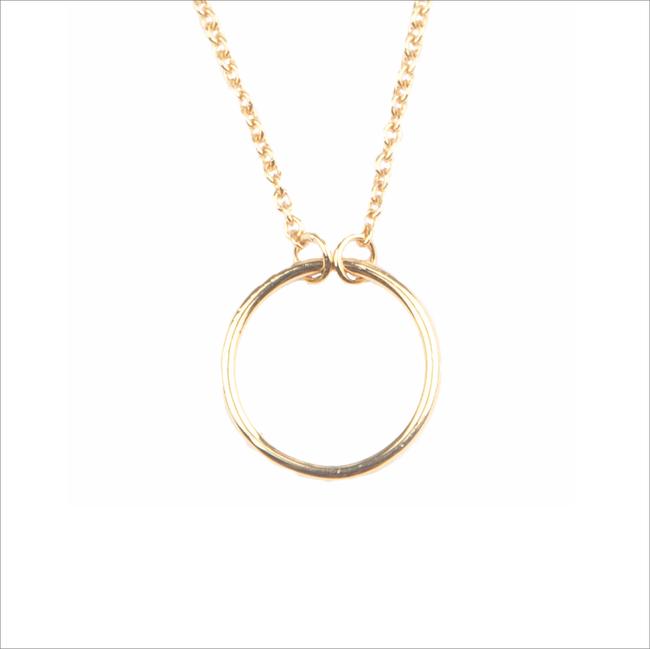 Goldfarbene ALLTHELUCKINTHEWORLD Kette SOUVENIR NECKLACE CIRCLE - large