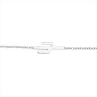 Silberne ALLTHELUCKINTHEWORLD Armband SOUVENIR BRACELET CACTUS - medium