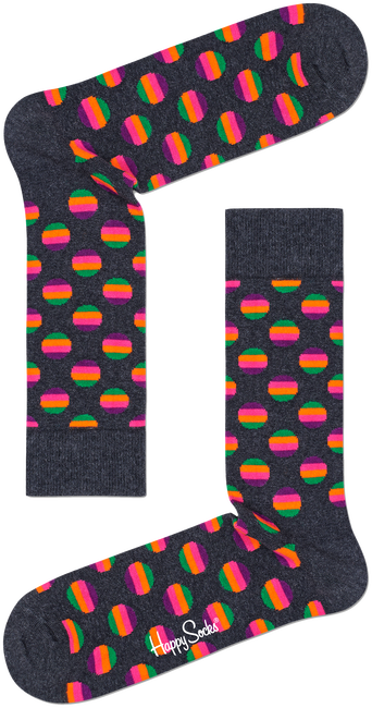 Weiße HAPPY SOCKS Socken SUNRISE DOT SOCK  - large