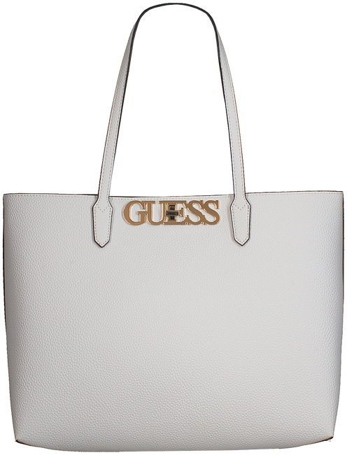 Weiße GUESS Handtasche UPTOWN CHIC BARCELONA TOTE  - large