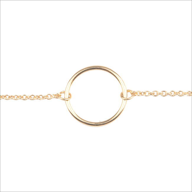 Goldfarbene ALLTHELUCKINTHEWORLD Armband SOUVENIR BRACELET CIRCLE - large