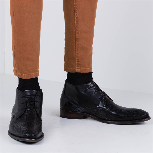 Schwarze VAN LIER Business Schuhe 1959123  - large