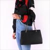 Schwarze GUESS Handtasche ROBYN GIRLFRIEND SATCHEL  - small