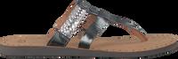 Silberne UGG Zehentrenner AUDRA - medium