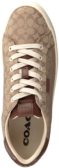 Braune COACH Sneaker low ADB SIG JACQUARD LOW TOP  - large