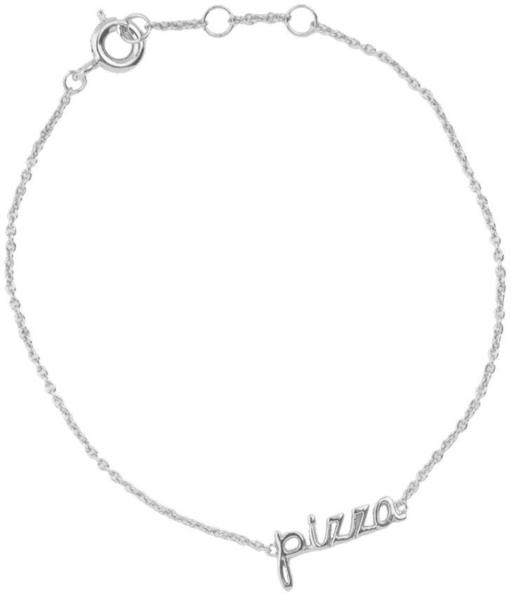 Silberne ALLTHELUCKINTHEWORLD Armband URBAN BRACELET PIZZA - larger