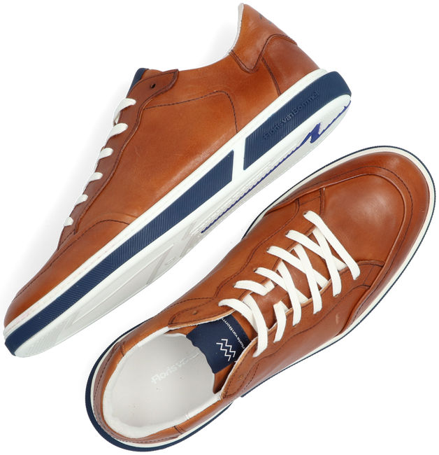 Cognacfarbene FLORIS VAN BOMMEL Sneaker low 13350  - large