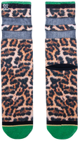 Mehrfarbige/Bunte XPOOOS Socken LUCY LEOPARD  - medium