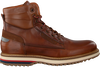 Cognacfarbene NZA NEW ZEALAND AUCKLAND Schnürboots LEIGH HIGH  - small
