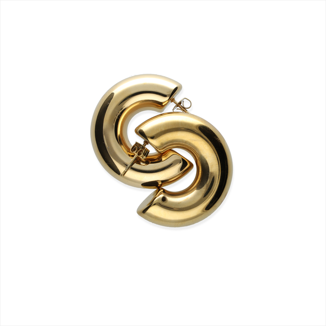 Goldfarbene NOTRE-V Ohrringe OORBEL RING  - large