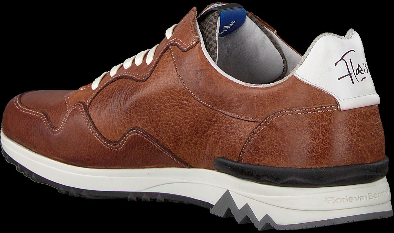 Cognacfarbene FLORIS VAN BOMMEL Sneaker 16238