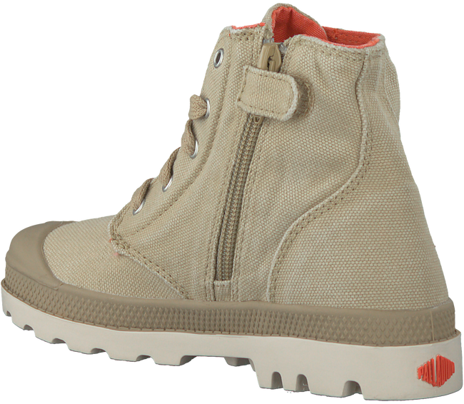 Beige PALLADIUM Ankle Boots PAMPA HI KIDS - large