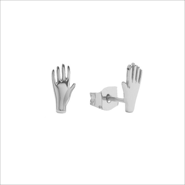 Silberne ALLTHELUCKINTHEWORLD Ohrringe PARADE EARRINGS HAND - large