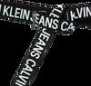 Schwarze CALVIN KLEIN Gürtel SLIDER TAPE  - small
