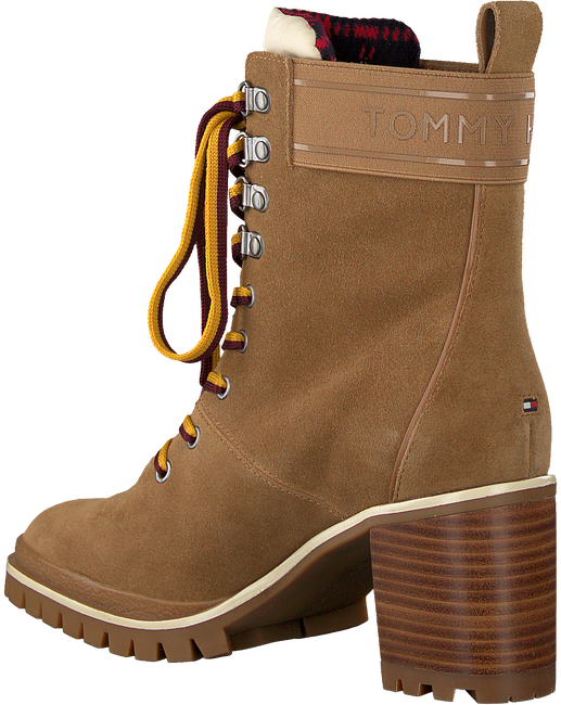 Taupe TOMMY HILFIGER Schnürboots SPORTY OUTDOOR MID HEEL LACE U  - large