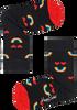 Schwarze HAPPY SOCKS Socken KIDS RAINBOW SMILE  - small