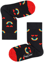 Schwarze HAPPY SOCKS Socken KIDS RAINBOW SMILE  - medium