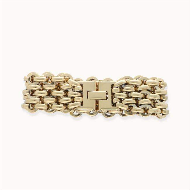 Goldfarbene NOTRE-V Armband ARMBAND BREDE SCHAKEL  - large