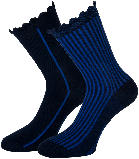 Blaue MARCMARCS Socken AMY COTTON 2-PACK - large