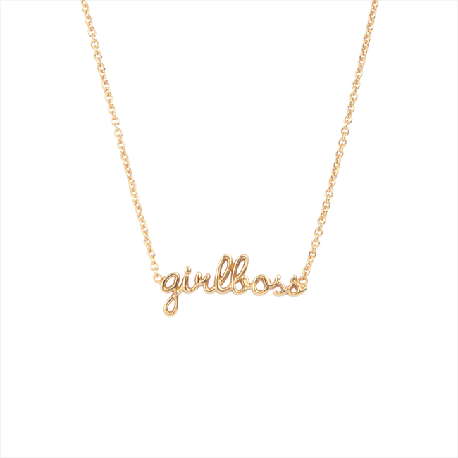 Goldfarbene ALLTHELUCKINTHEWORLD Kette URBAN NECKLACE GIRLBOSS - large