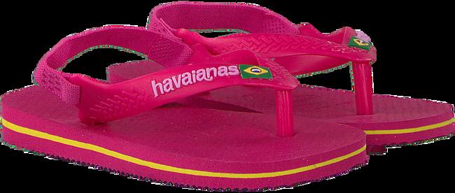 Rote HAVAIANAS Pantolette BABY BRASIL LOGO II  - large