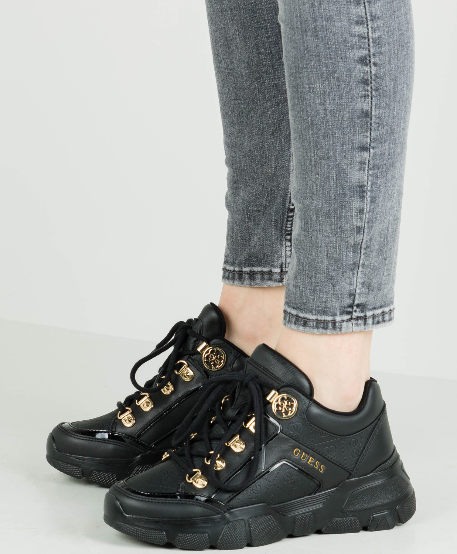 Guess Sneaker Damen 35 Schwarz: : Schuhe & Handtaschen