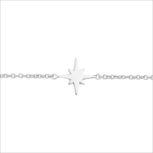 Silberne ALLTHELUCKINTHEWORLD Armband SOUVENIR BRACELET STAR BURST - large