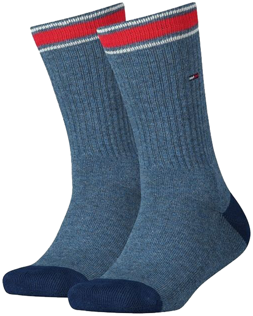 Blaue TOMMY HILFIGER Socken TH KIDS ICONIC SPORTS SOCK 2P - large