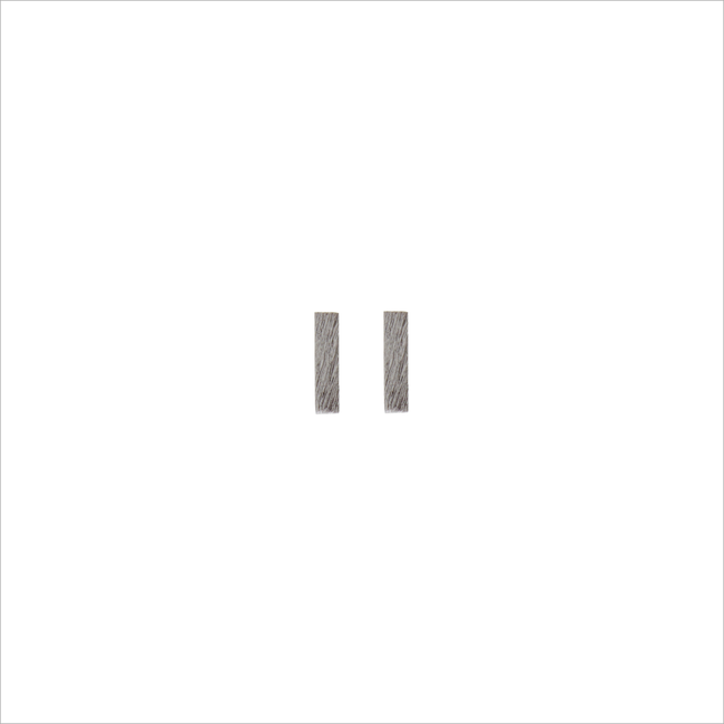 Silberne ALLTHELUCKINTHEWORLD Ohrringe ELEMENTS EARRINGS BAR - large
