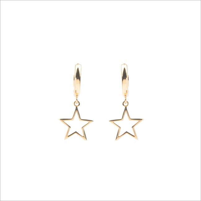 Goldfarbene ALLTHELUCKINTHEWORLD Ohrringe SOUVENIR EARRINGS STAR - large