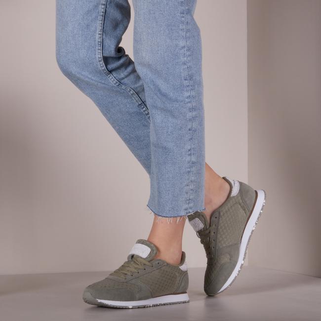 Grüne WODEN Sneaker low YDUN SUEDE MESH II  - large