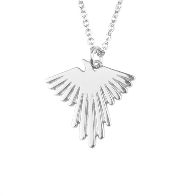 Silberne ALLTHELUCKINTHEWORLD Kette SOUVENIR NECKLACE EAGLE - large