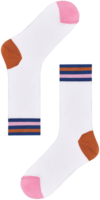 Weiße HAPPY SOCKS Socken HYSTERIA LONA CREW SOCK  - large