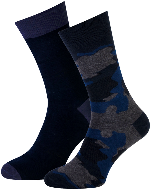 Blaue MARCMARCS Socken MM DOMINIC COTTON 2-PACK - large