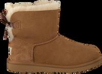 Cognacfarbene UGG Ankle Boots MINI BAILEY BOW II KIDS - medium