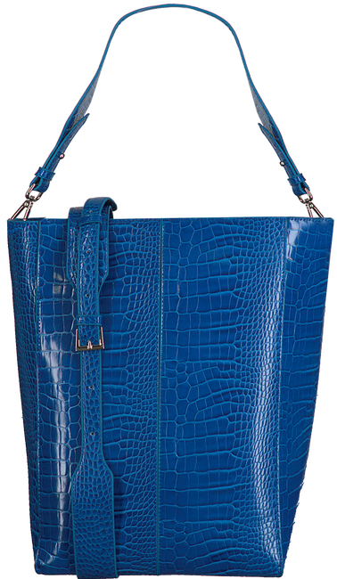 Blaue HVISK Shopper CASSET CROCO  - large