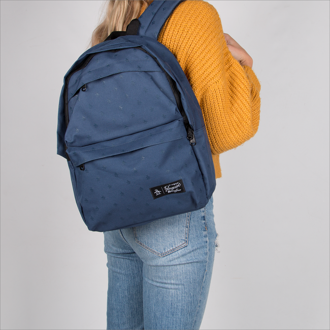 Blaue ORIGINAL PENGUIN Rucksack CHATHAM AOP PETE BACKPACK - large
