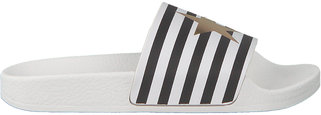 Weiße THE WHITE BRAND Pantolette STAR WHITE STRIPES  - large