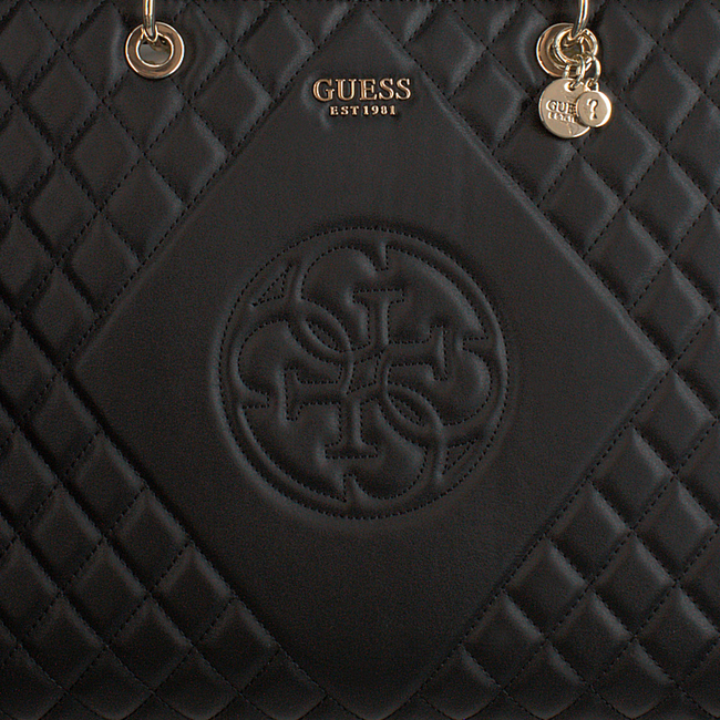 Schwarze GUESS Handtasche SWEET CANDY LARGE CARRY ALL  - large