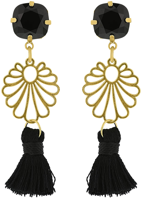 Schwarze JEWELLERY BY SOPHIE Ohrringe IBIZA EARRINGS - large