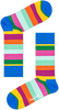 Mehrfarbige/Bunte HAPPY SOCKS Socken STRIPE SOCK  - small