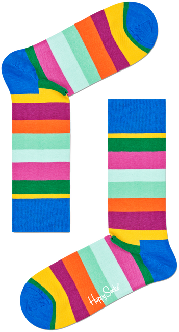 Mehrfarbige/Bunte HAPPY SOCKS Socken STRIPE SOCK  - large