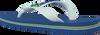 Blaue HAVAIANAS Zehentrenner BRASIL LOGO KIDS - small