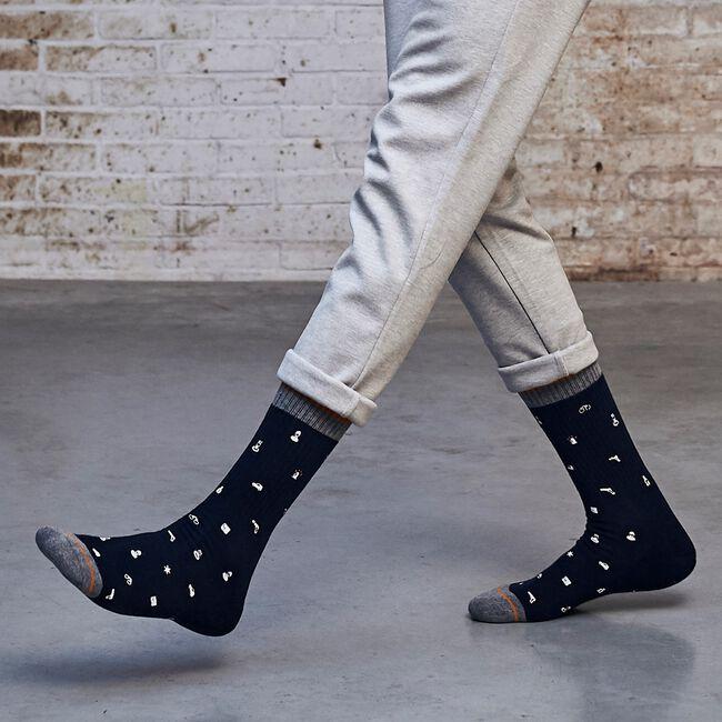 Blaue XPOOOS Socken ICONS  - large