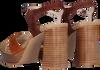 Cognacfarbene LODI Sandalen USLO  - small