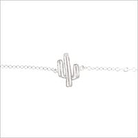 Silberne ALLTHELUCKINTHEWORLD Armband ELEMENTS BRACELET CACTUS - medium