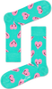 Grüne HAPPY SOCKS Socken SMILEY HEART - small