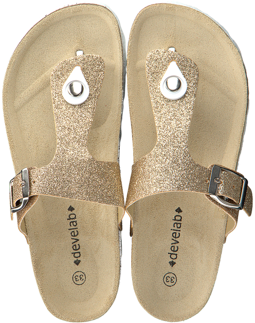 Goldfarbene DEVELAB Sandalen 48062 - large
