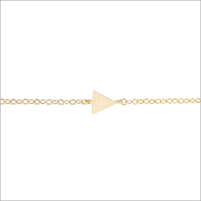 Goldfarbene ALLTHELUCKINTHEWORLD Armband ELEMENTS BRACELET TRIANGLE SOL - large